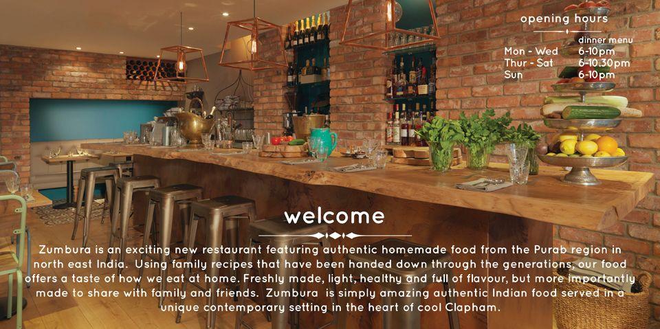 Zumbura Restaurant Clapham Old Town Restaurant Asian Restaurants London Food