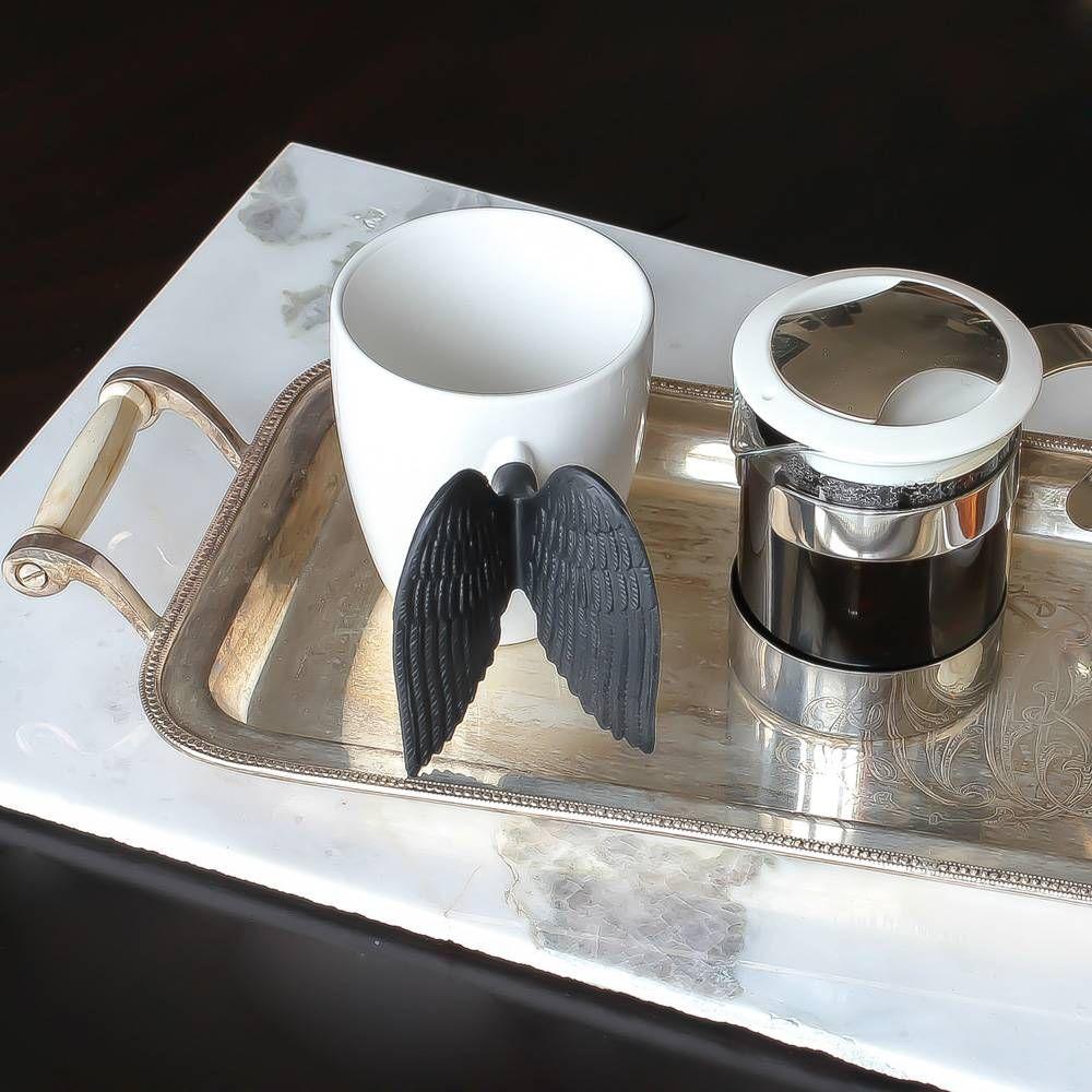 Mug Angel Time Siyah | #ev #mutfak #kahve #kupa #kahvekupasi #mug #melek #angel