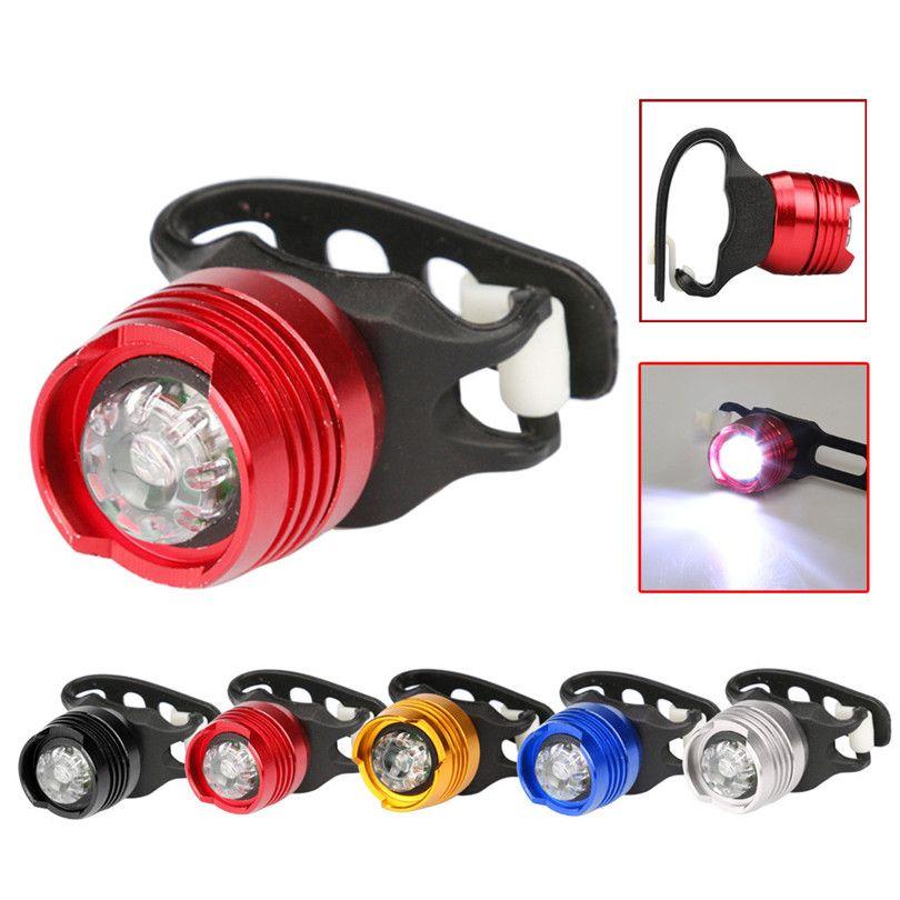 G0 Nuevo LED Frente de La Bicicleta Lámpara de Cola Trasera Luz de Advertencia de Seguridad de Flash Casco Fina Bicicleta Luz Accesorios Envío Gratis