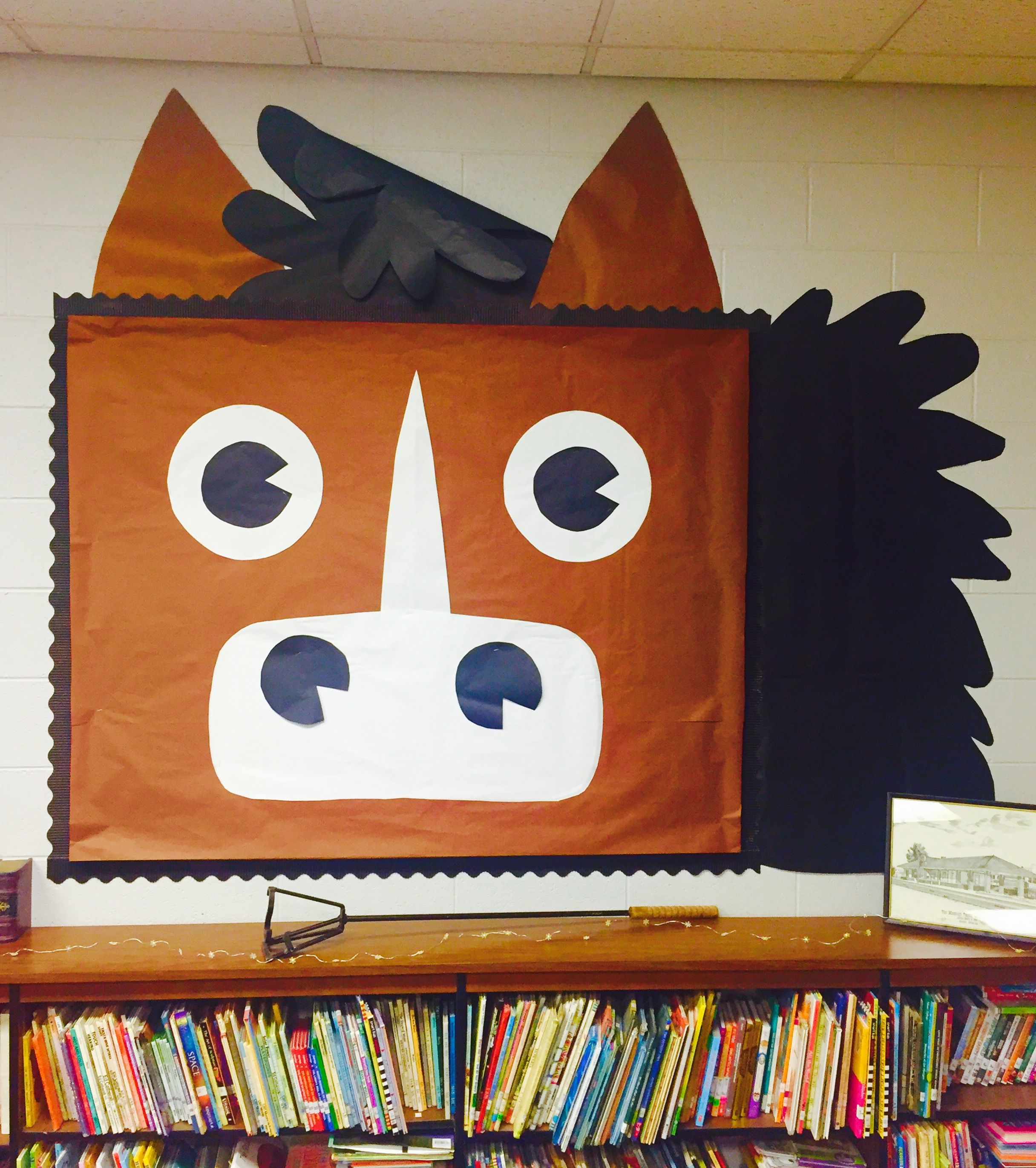 Horse Bulletin Board For Wild West Theme