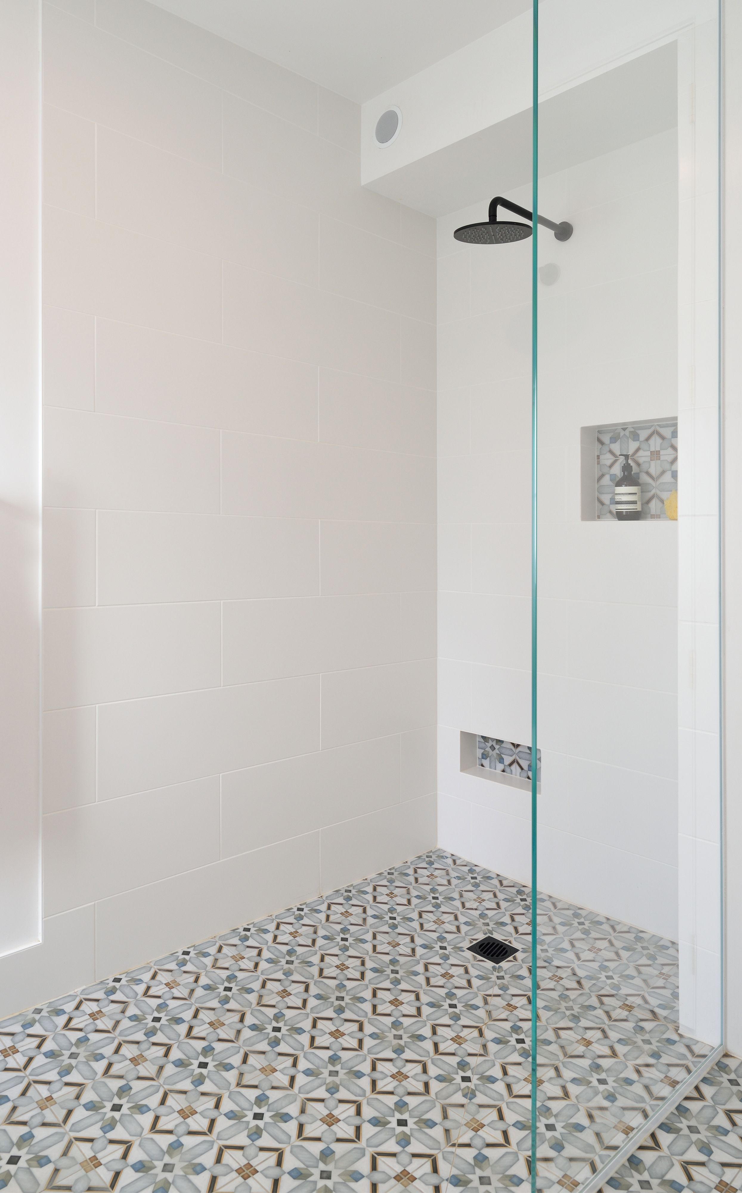 The Block Nz 2016 Bathroom And Kitchen Tiles Bathroom Shower Walls Cement Tiles Bathroom Bathroom