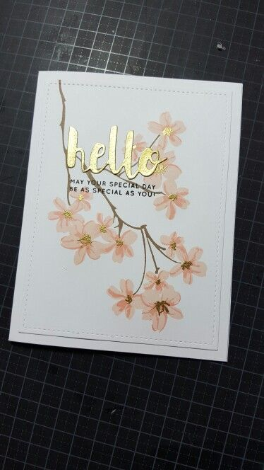 Altenew Vintage flowers with Hero Arts and Simon says stamp inks.  Gold embossed word die and sentimental also from Simon.