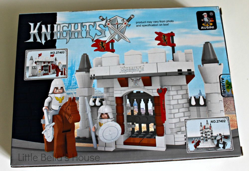 Ausini Castle Building Brick Set 27401 Medieval Knights,Minifigure,136pc DIY kit