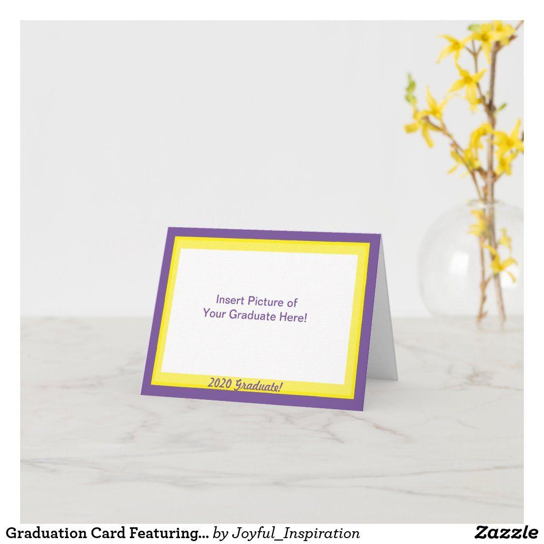 Graduation card featuring your graduate in
