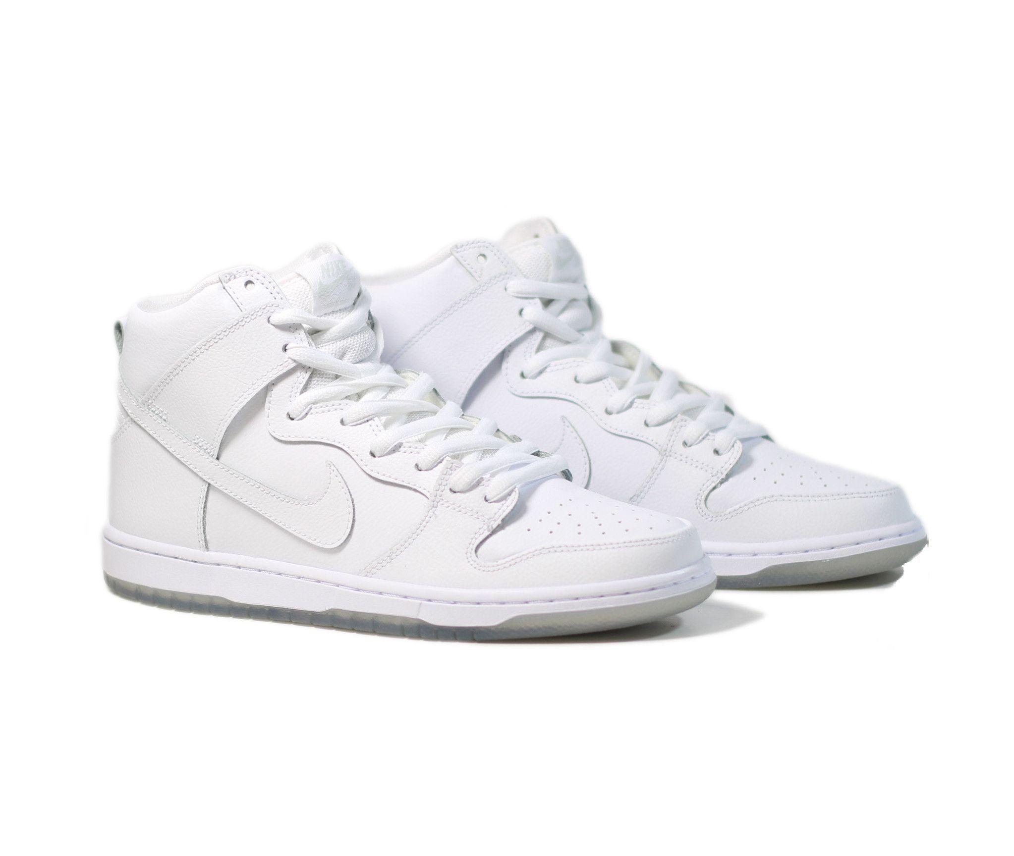 Nike SB Dunk High Pro -White/White-Ice