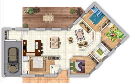 Avis sur plan de maison de plain pied de 120m 85 messages plans for Petite maison luxueuse