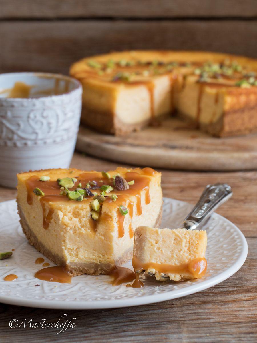 New York Cheesecake Alla Zucca Con Caramello Salato Postres