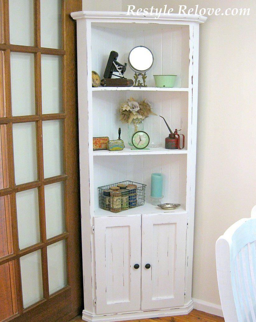 Bold And Modern White Corner Cabinet Perfect Design White Farmhouse ...