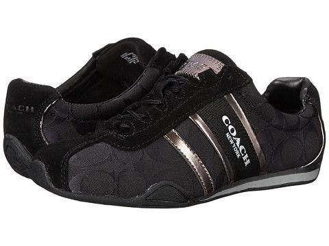 Womens Shoes COACH Remonna Black/Pewter Signature
