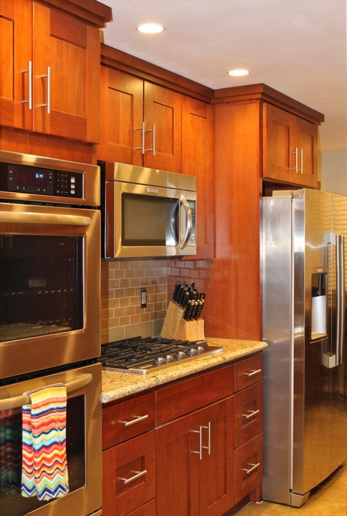 Natural Cherry Kitchen Cabinets Just The Cabinets Mind You Cherry Cabinets Kitchen New Kitchen Cherry Kitchen
