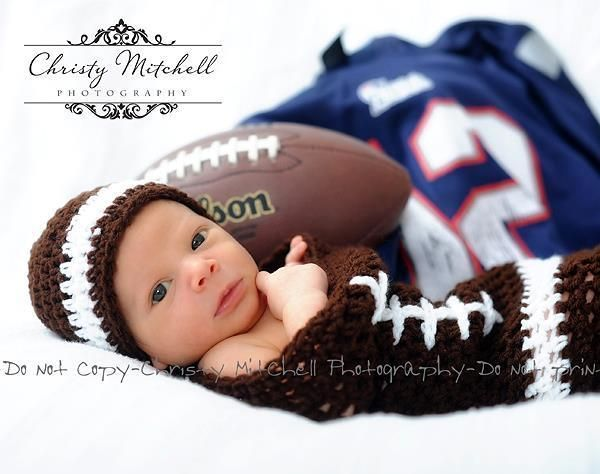 Football Cocoon And Hat Crochet Newborn And Sport Pinterest