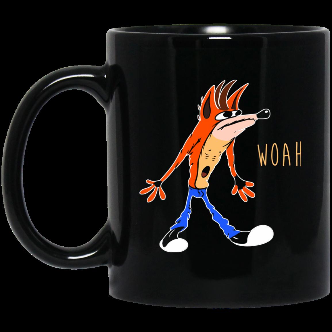 Crash Bandicoot Woah Coffee Mugs 8dix Fashion Crash Bandicoot Bandicoot Mugs