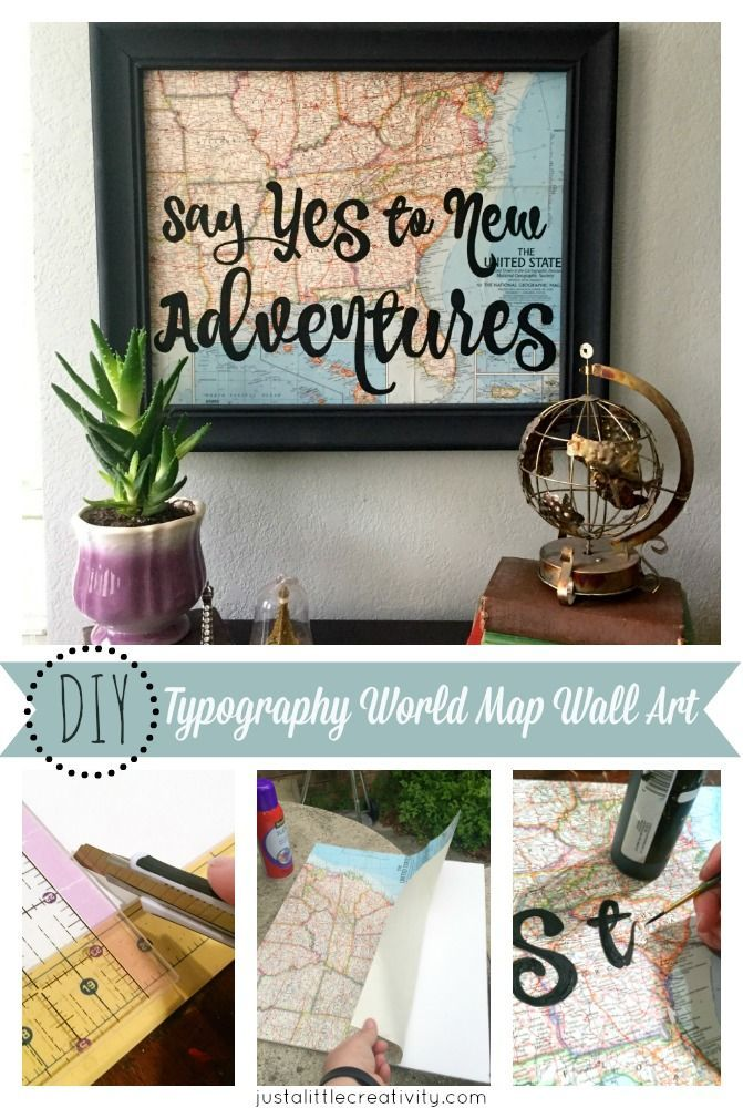Say yes to new adventures diy world map springcreations say yes to new adventures diy world map springcreations sciox Gallery