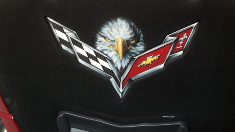 My Custom Airbrushed Hood Liner - Corvette Forum