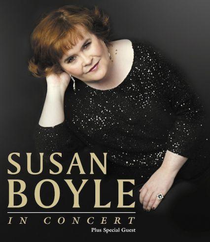 Susan Boyle in concert poster.