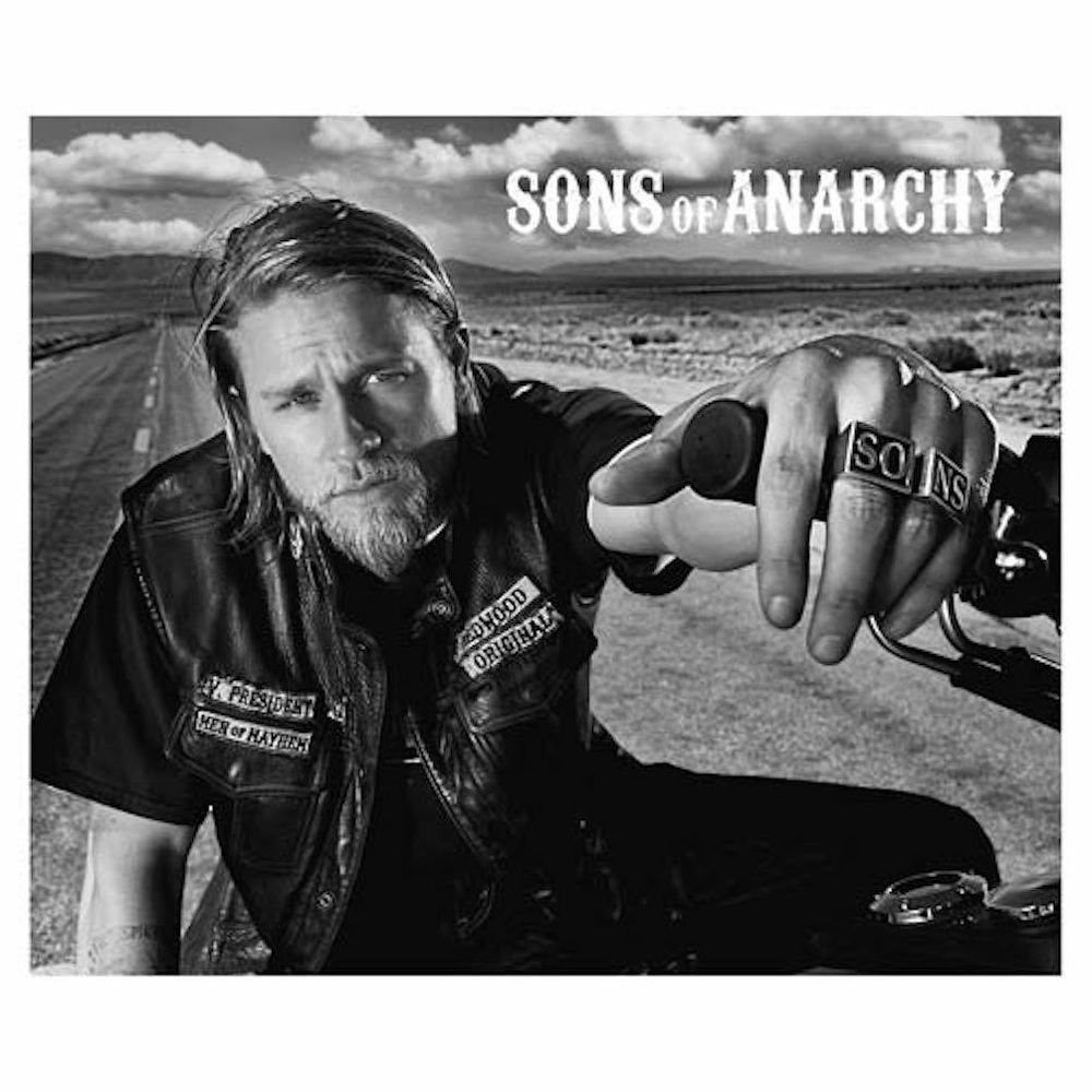 Sons of Anarchy Jax Sexy Portrait Photo Logo Fleece Blanket New in Pkg