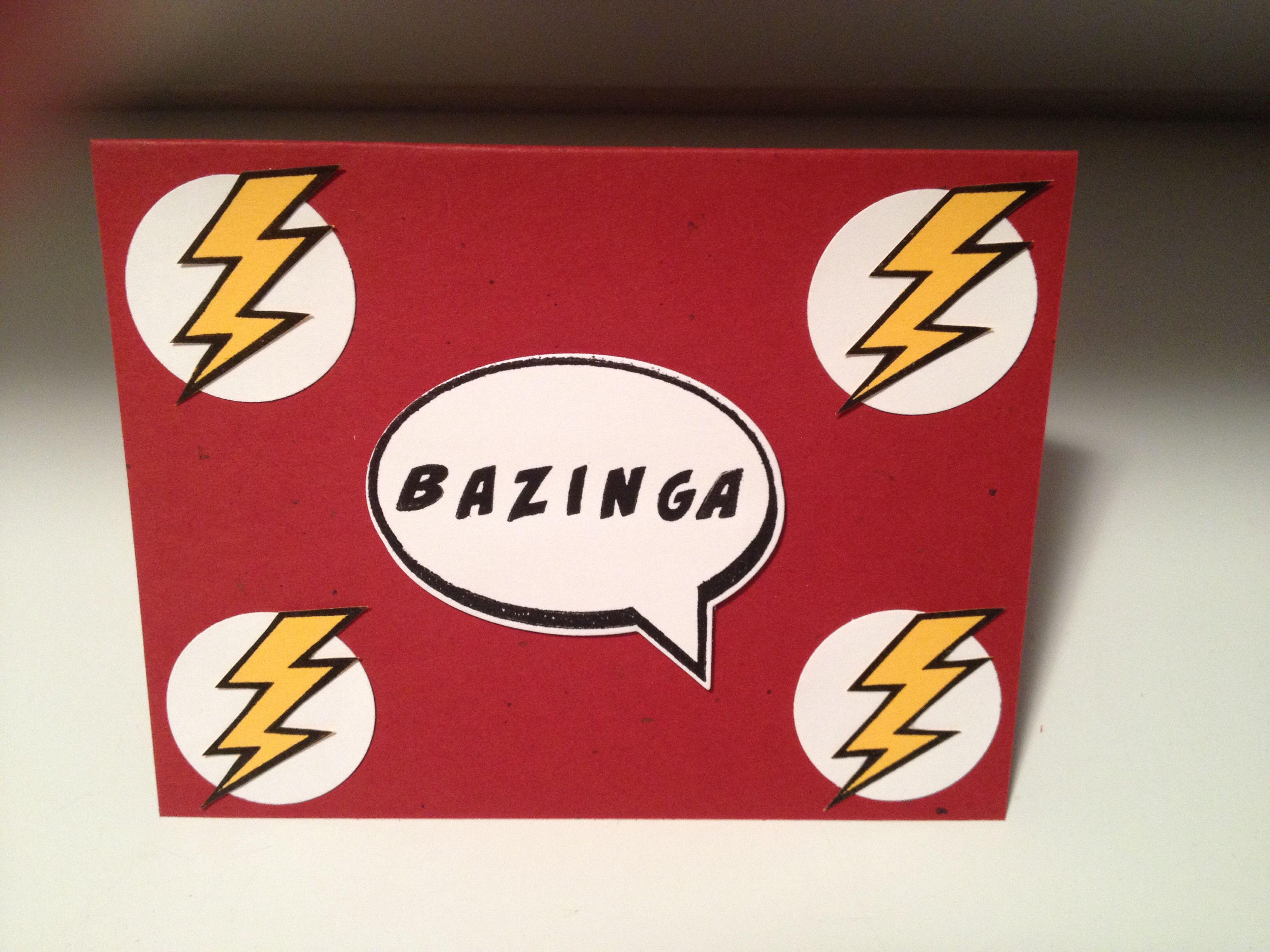 Big Bang Theory Bazinga Card Made With Stampin Up Calling All