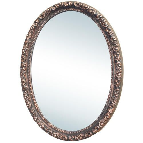 Camille Antique Oval Medicine Cabinet With Mirror Medicine