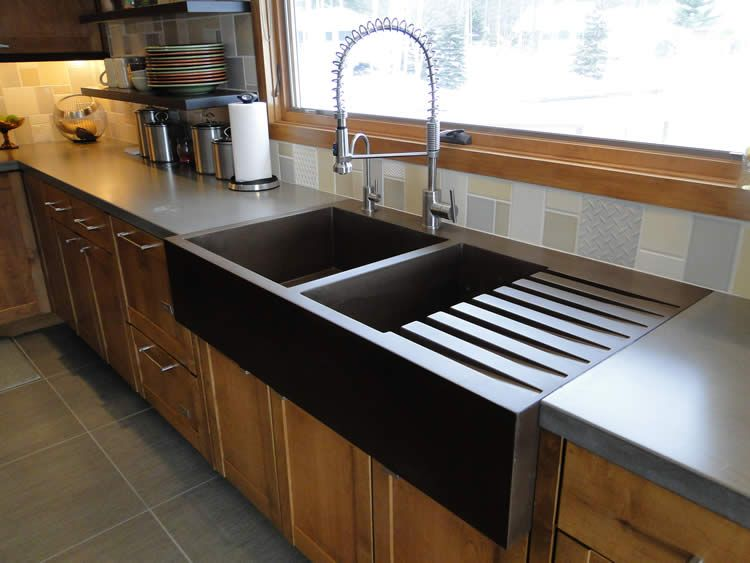 Custom Kitchen Sinks With Images Concrete Sink Countertop