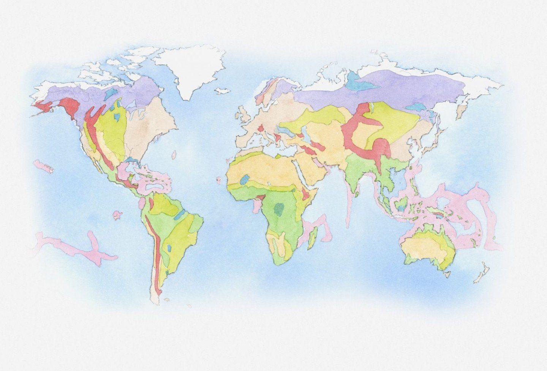 Biome Map Coloring Worksheet Elegant Biome Map North