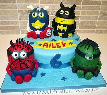 minion superhero cake Google Search birthday cake ideas for all
