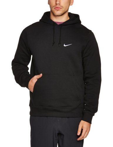 Nike Mens Club Pull Over Hoodie Black White 611457-010 Size X-Large ... 023325405057