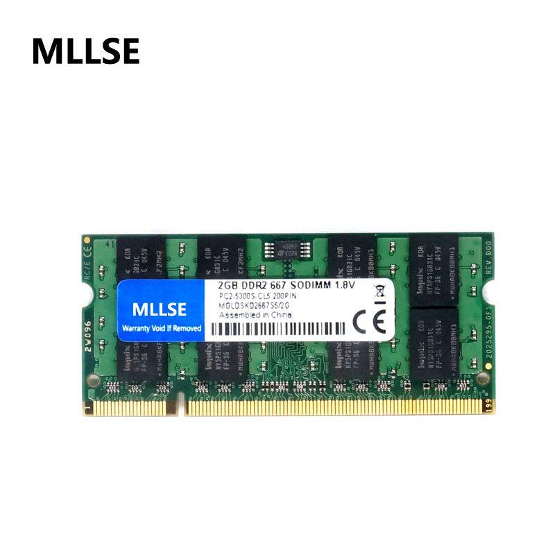 MLLSE Nieuwe Verzegelde SODIMM DDR2 667 Mhz 2 GB PC2 5300 Geheugen Voor Laptop RAM
