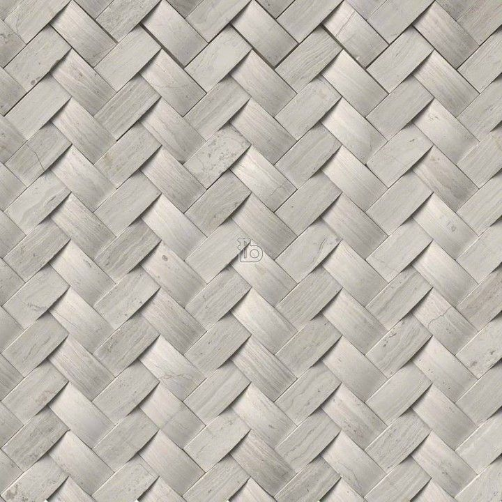 Mystic Cloud Arched Herringbone Honed Mosaic (With images