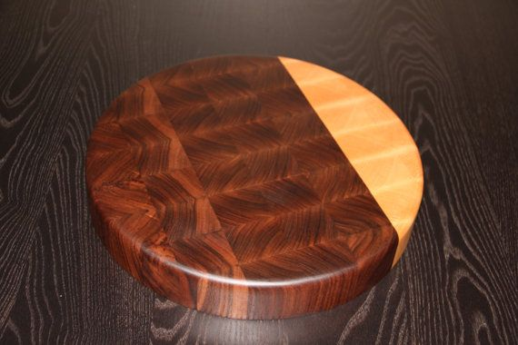 Two Tone Chopping Block Round Butcher by BeverlyHillsWoodwork, $150.00