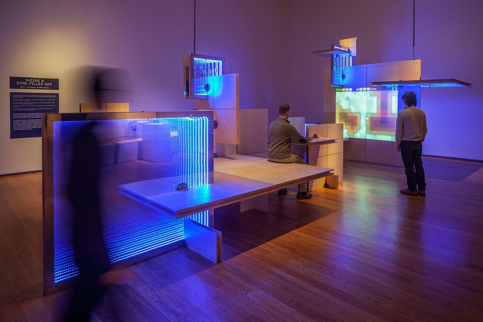 The Game Worlds Of Jason Rohrer At Davis Museum Wellesley Video Game Design Exhibition Design Video Game Tester