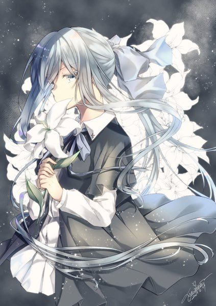 Anime Picture 885x1254 With Original Yuihira Asu Long Hair Single Tall Image Looking At Viewer Ponytail H Anime Anime Artwork Anime Images
