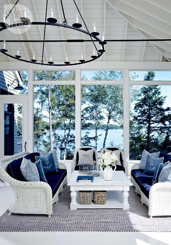 Lakeside Collection Patio Furniture: Mesmerizing Nantucket-inspired Coastal Cottage On Lake