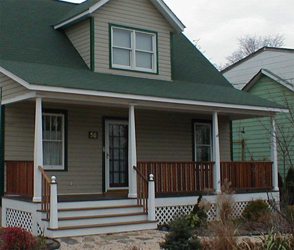 Small Front Porches On Houses: -length Front Porch Replaces A
