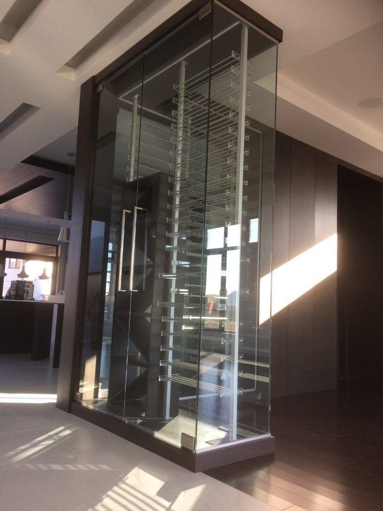 Cellier sur mesure  Vitrerie Verre Design  CAVE A VIN en 2019  Wine cellar Cellar et Cellar