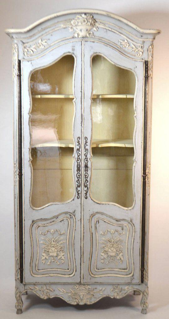 Century Louis XV Style Walnut Display Cabinet U2013 Cal A Vie Antique Boutiqe