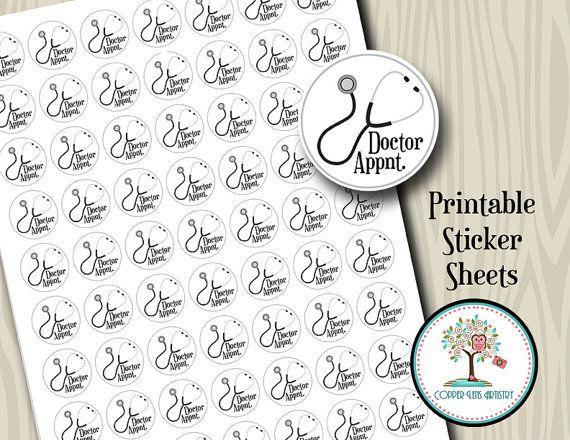 Printable Stickers Doctor Appointment Instant Download