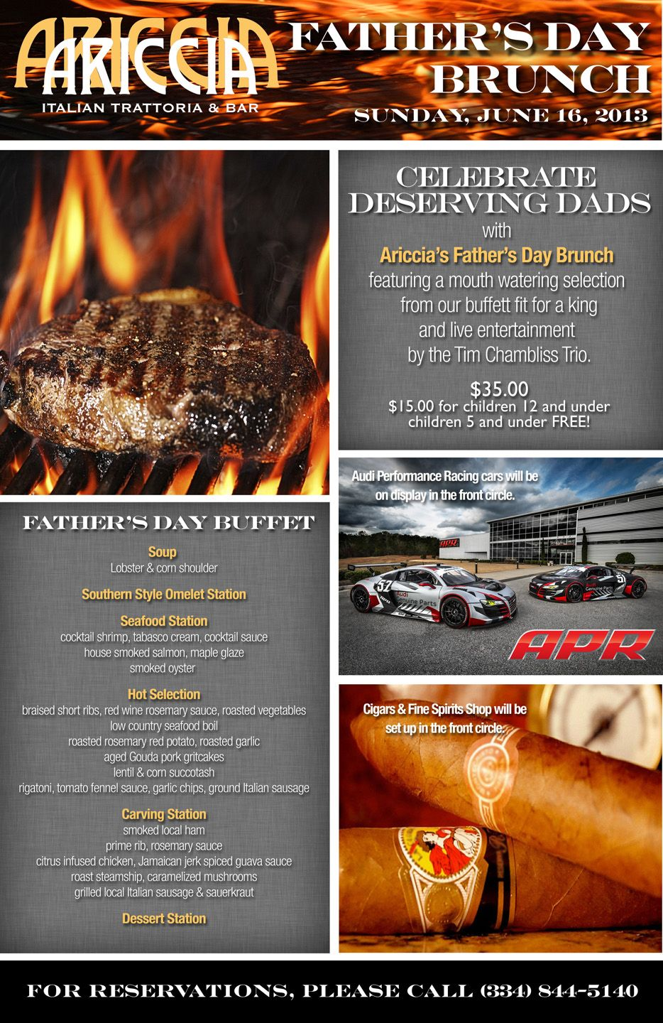 Treat Dad to a Special Father's Day Buffet at Ariccia! #fathersday