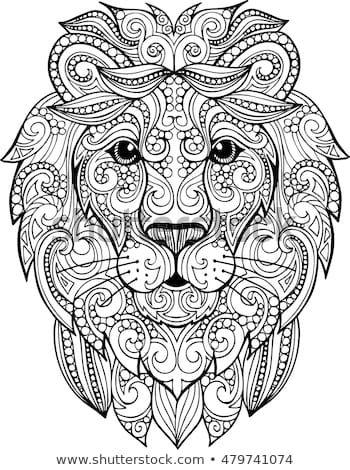 Download Lion head zentangle - from Shutterstock (art by lenkis_art ...