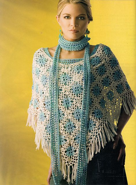 Ravelry: Over the Top Set: Poncho pattern by Gayle Bunn | Crochet-1 ...