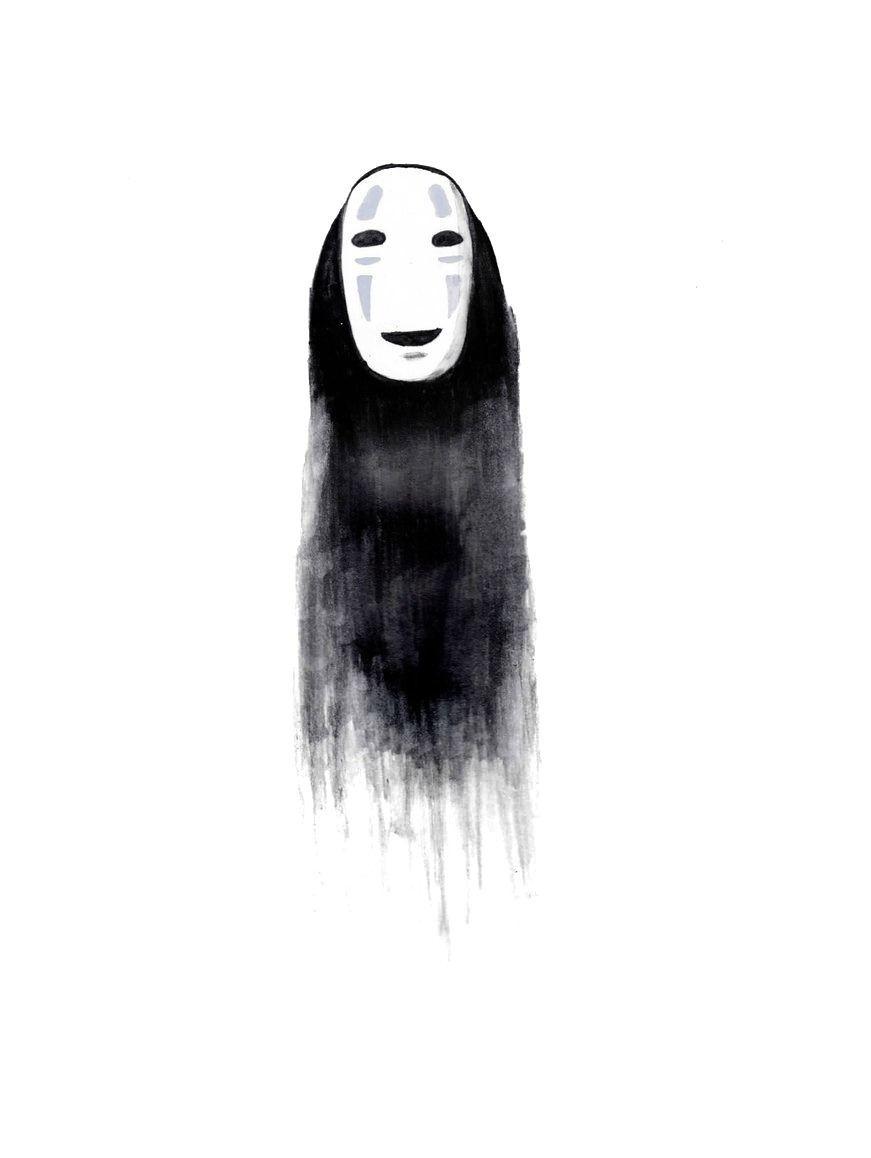Image Result For Spirited Away Realistic No Face Drawing Ghibli Art Miyazaki Studio Ghibli