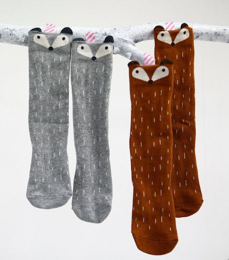 b8f0c4c04 Absolutely obsessed with these Fox or Raccoon Knee Socks from Little Circus.