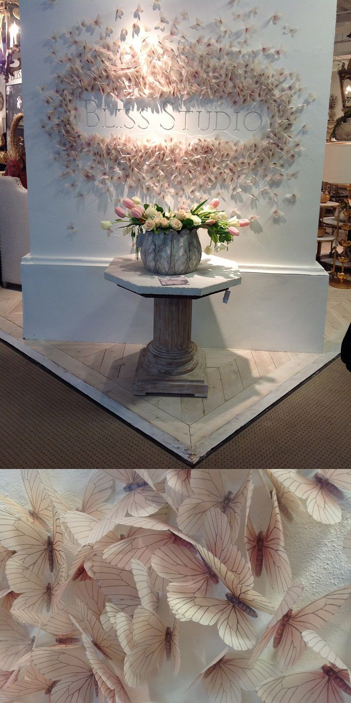 What a neat idea.  All butterflies are hand-cut out of paper.  #HPMKT