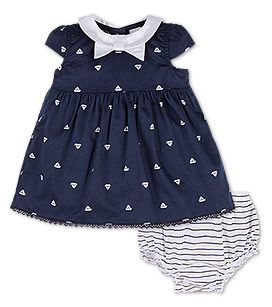 Baby Kleid In Der Farbe Dunkelblau Weiss Bei C A Kleidung Fur Kleine Madchen Madchen Sommerkleider Babykleidung Madchen