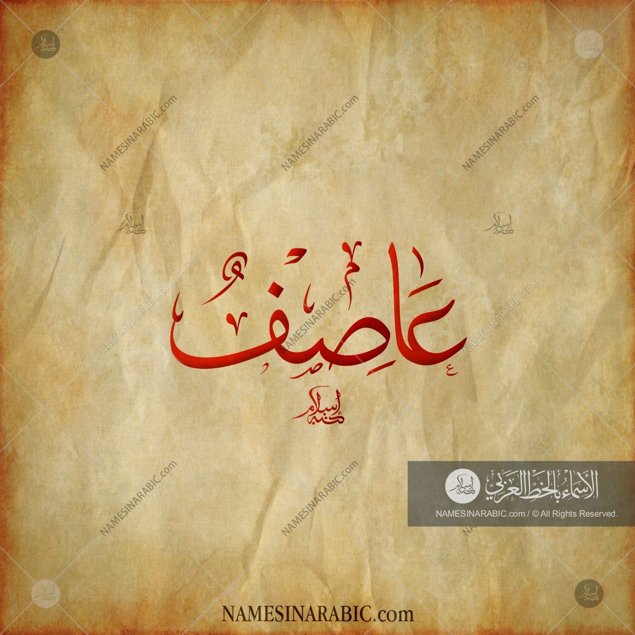 Asif - عاصف / Names in Arabic Calligraphy | Name# 8508