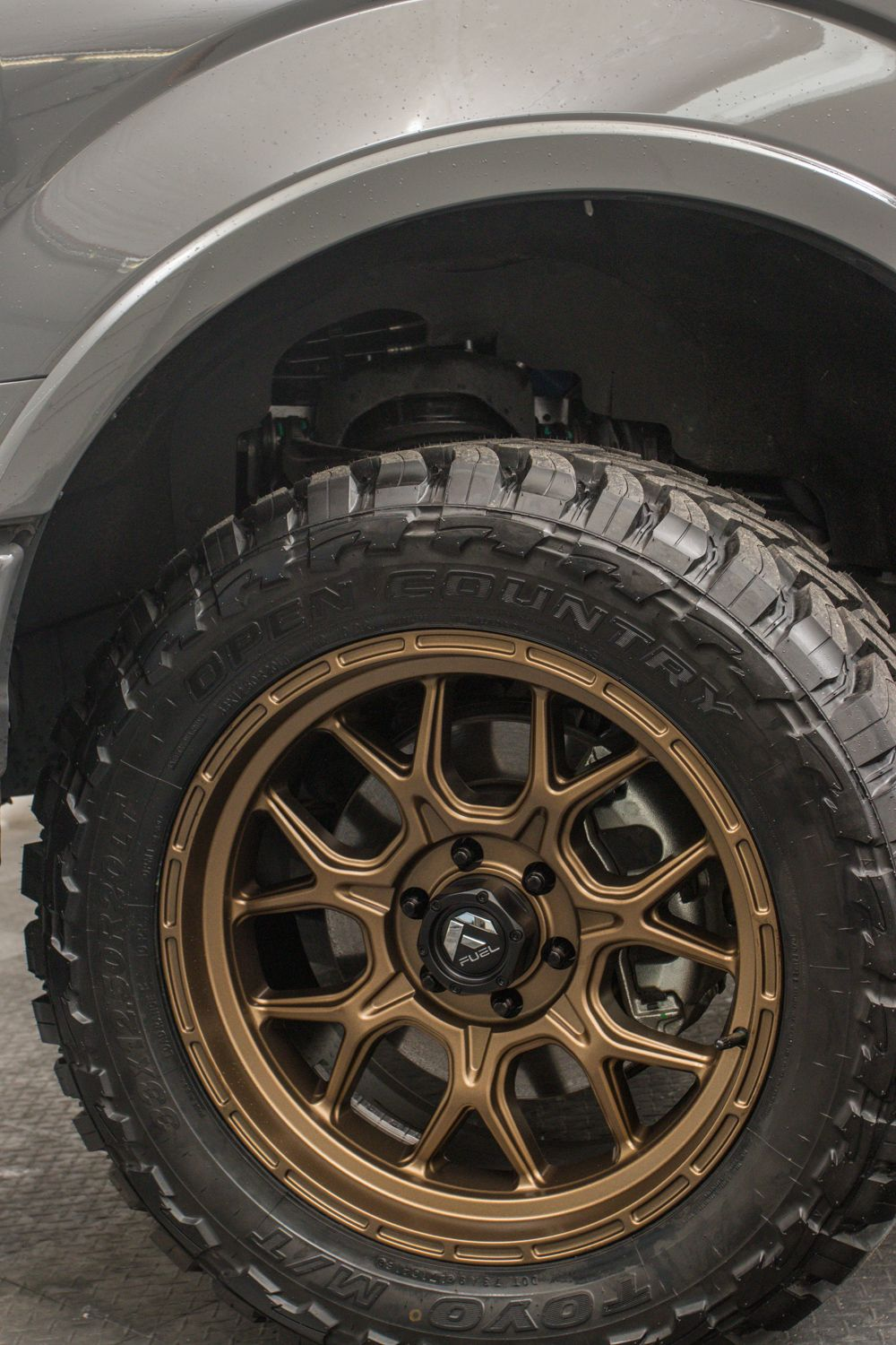 new fuel tech 20 inch wheel in bronze on a 2019 ford f150