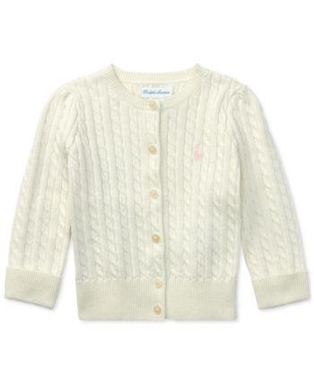 6161924df Ralph Lauren Baby Girls Mini Cable Cardigan - Warm White 12 months