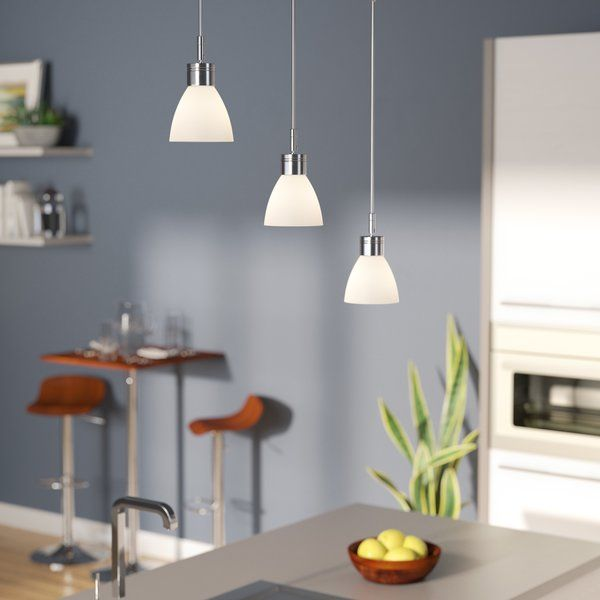 Youll love the shireen 3 light cascade kitchen island pendant at wayfair