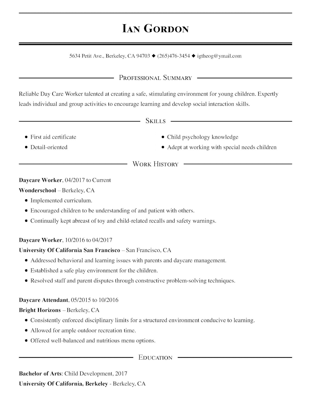 Caregiver Resume Samples Skills 2019 Caregiver Resume