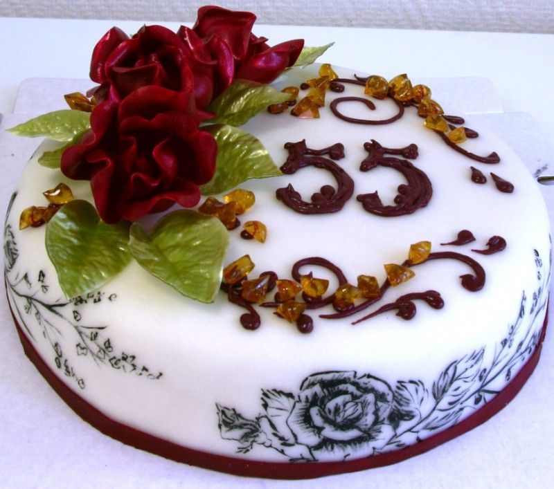 Фото тортов на юбилей садовода | Юбилейные торты ...