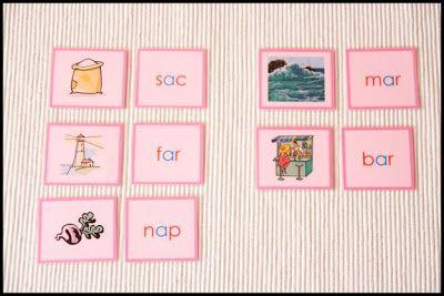 Serie Rosa Montessori - Tarjetas para imprimir - Creciendo con Montessori